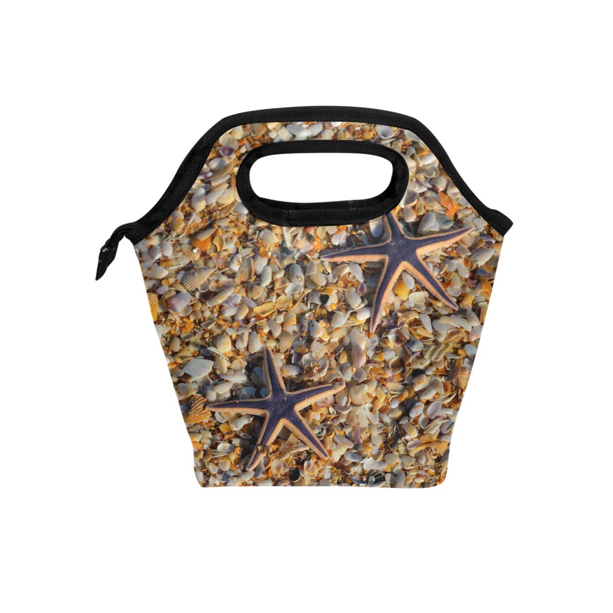 Lunch Tote Beach Starfish Custom Personalized Mens Insulated Lunch Bag Zipper Kids Lunch Box