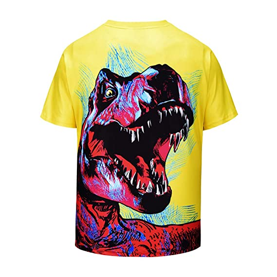 45aae428 Amazon.com: Sagton Men's Dinosaur Printed Classic Graphic Tees: Clothing