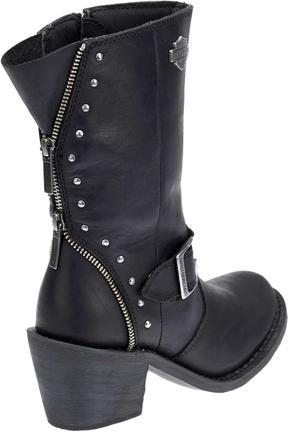 27565e36ac58 Amazon.com  Harley-Davidson Women s Rosanne 8-Inch Waterproof Black  Motorcycle Boots D87127  Harley-Davidson  Clothing