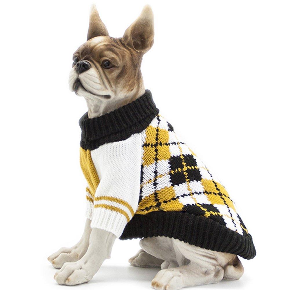 HAPEE Pet Clothes the Diamond Plaid Cat Dog Sweater , Dog Accessories, Dog Apparel,Pet Sweatshirt