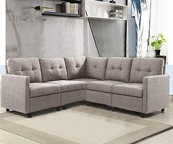 Amazon Com Ouchtek 5 Piece Modular Sectional Sofas Small Space