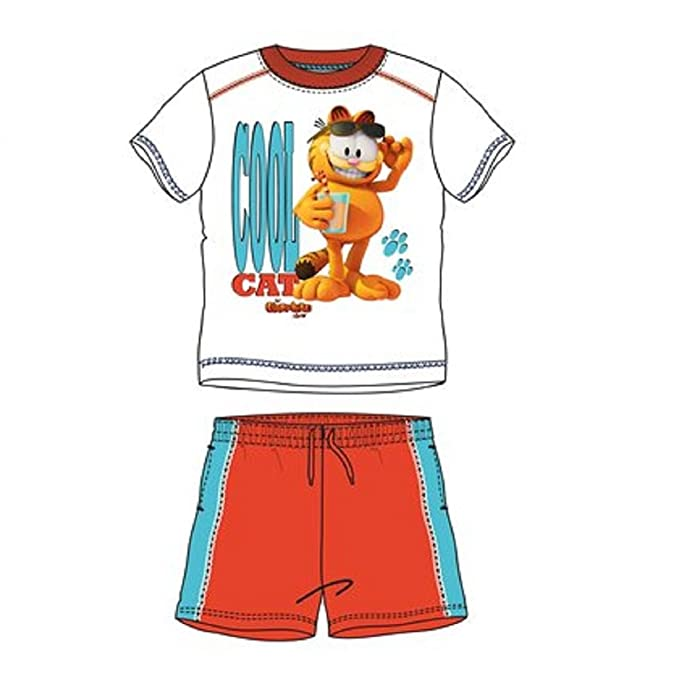 Garfield-Pijama multicolor 3 años