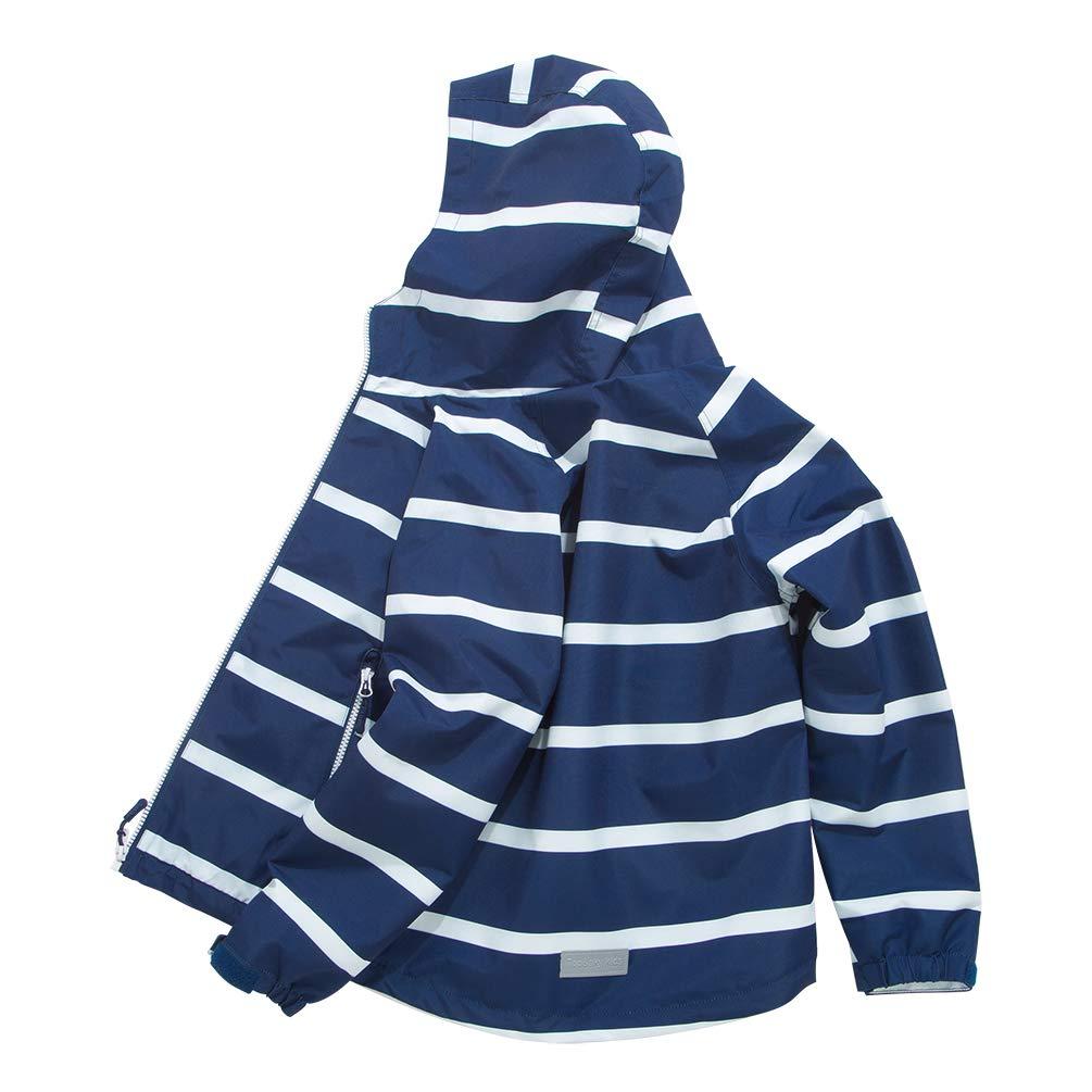 TLAENSON Boys Girls Windbreaker Fleece Lined Light Waterproof Jacket with Hood