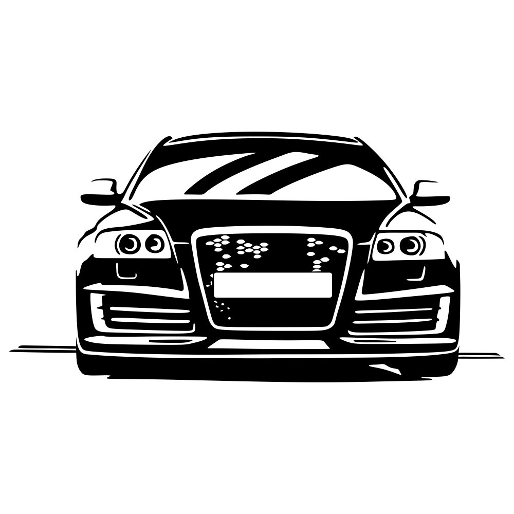 Malango® Wandtattoo - Auto A6 S6 Tuning Tuning Tuning Wand Tattoo Wandaufkleber Fahrzeug Autowelt Quattro Design Style Aufkleber ca. 120 x 60 cm schwarz B00RZJD4HU Wandtattoos & Wandbilder abac34