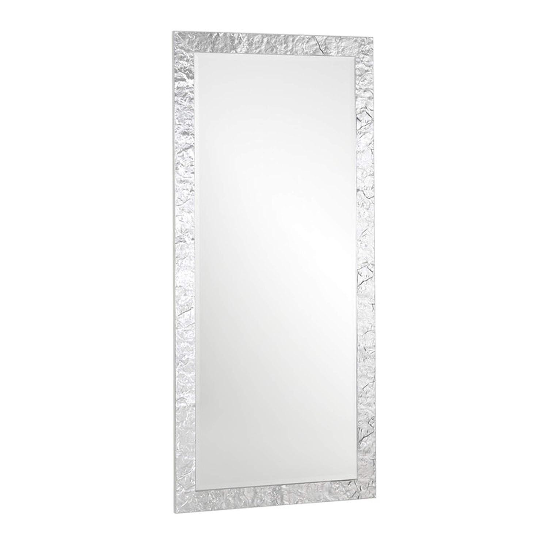 Specchio Su Misura Prezzo.Specchio Da Parete Con Cornice In Legno Foglia Argento Misura