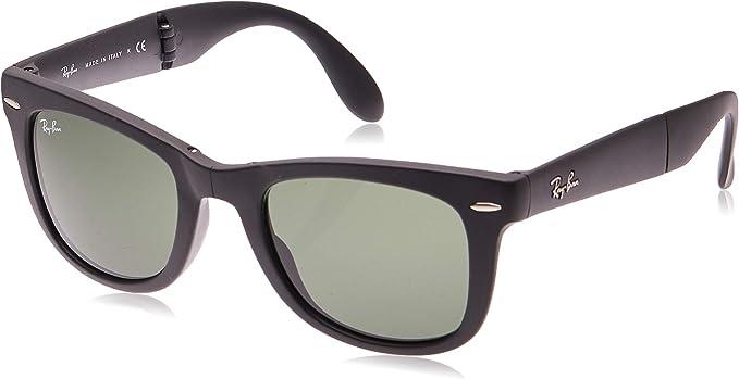Ray-Ban Folding Wayfarer Gafas de sol, Black, 51 para Hombre ...
