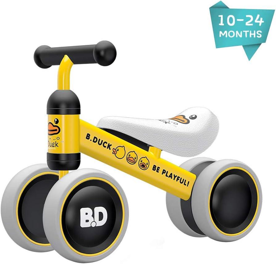 XIAPIA Bicicleta sin Pedales para Niños, Bicicleta Bebe 1 Año Bicicleta Equilibrio 1 Año Bicicleta Infantil sin Pedales de Regalo Favorito del Niño Regalos Bebe 1 Años(Amarillo)