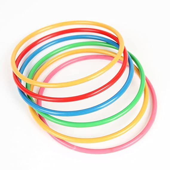 Juego de lanzamiento de anillas NUOLUX. Juguete deportivo de plástico para que adultos o niños jueguen en interior y exterior: Amazon.es: Bebé