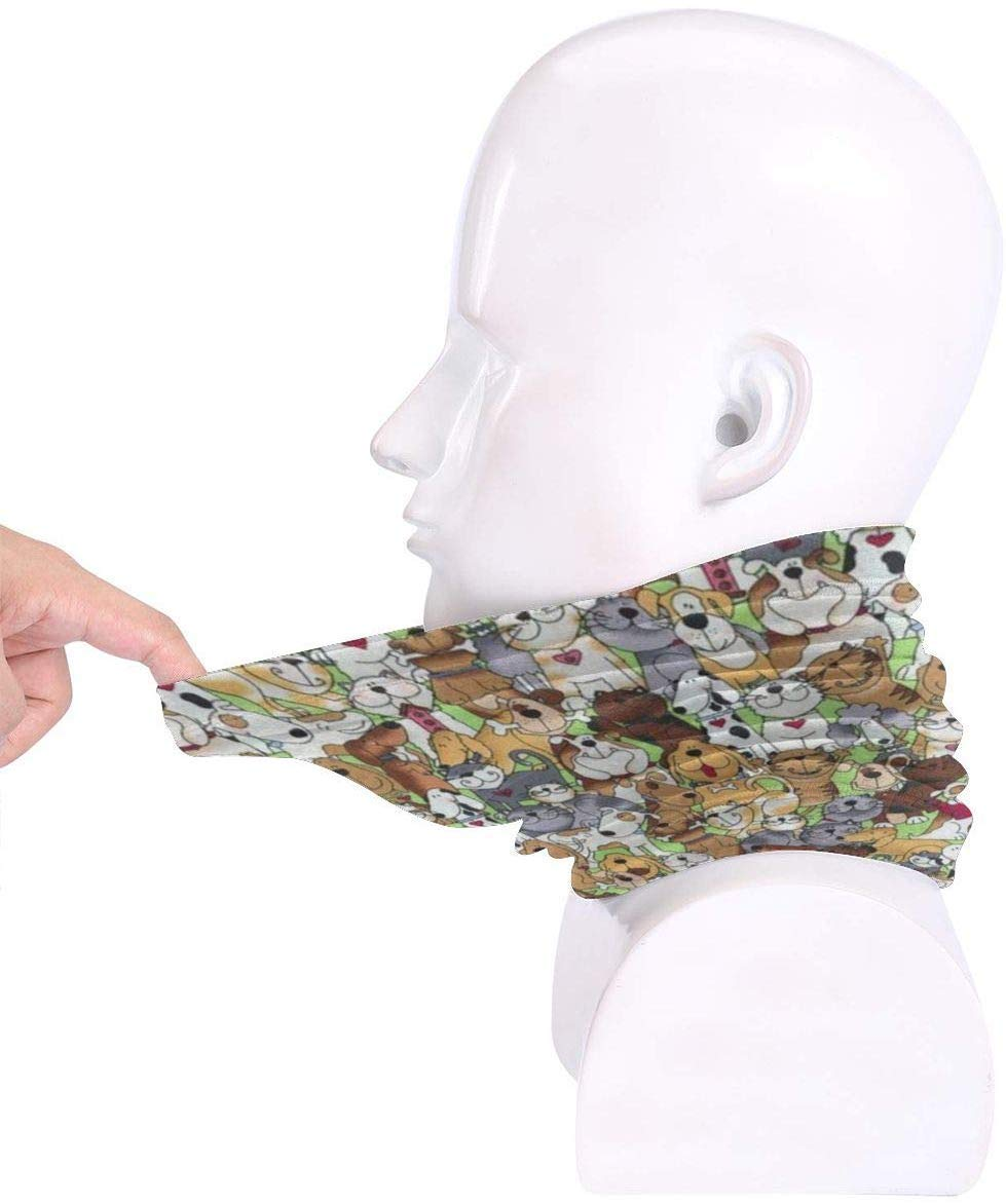 lamour est Un Mot /à Quatre Pattes Chats Chiens Pinakoli Masque en Laine Polaire Gaiter Masque pour Le Visage Hiver en Plein air