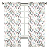 Sweet Jojo Designs 2-Piece Bedroom Decor Window Treatment Panels for Feather Collection