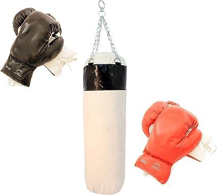 Lastworld 2 Pairs of Pro Quality Boxing Gloves /& Pro Punching Bag