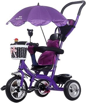 Qianle Kids Trike triciclo 3 rueda bicicleta con campana extractora de redondo morado morado: Amazon.es: Bebé