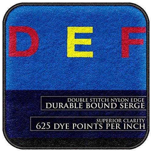 Flagship Carpets FE108-59A Letters That Teach, Children Will Love Taking a Seat Near Their Favorite Letter, 10'9'' x 13'2'' Oval Rug, 129'' Length, 158'' Width, Blue/Multi-Color