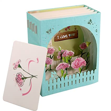 Amazon HeartMoon Pop Up Cards Mothers Day Gift Handmade 3D