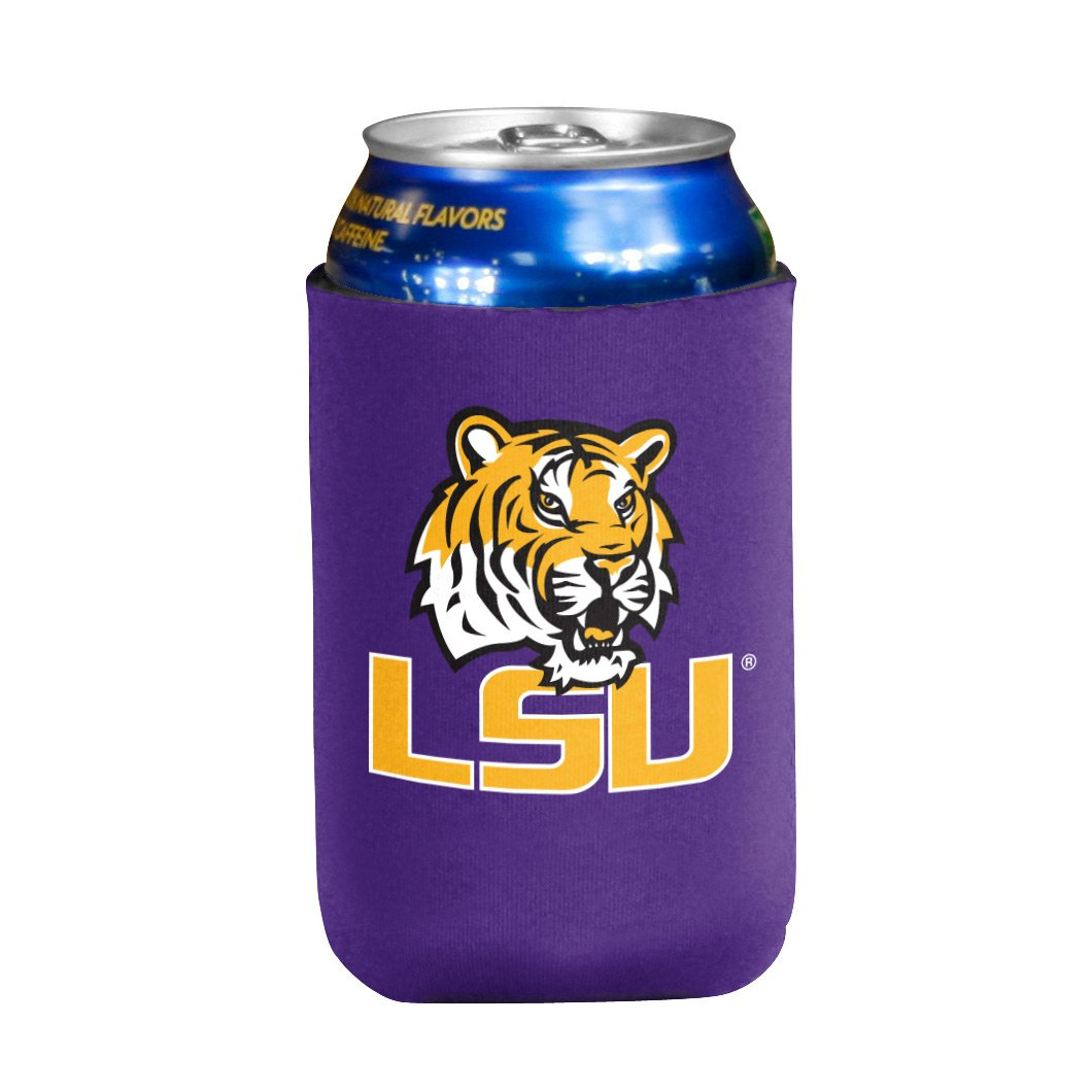 NCAA LSU Fightin Tigers Flat Drink Coozie