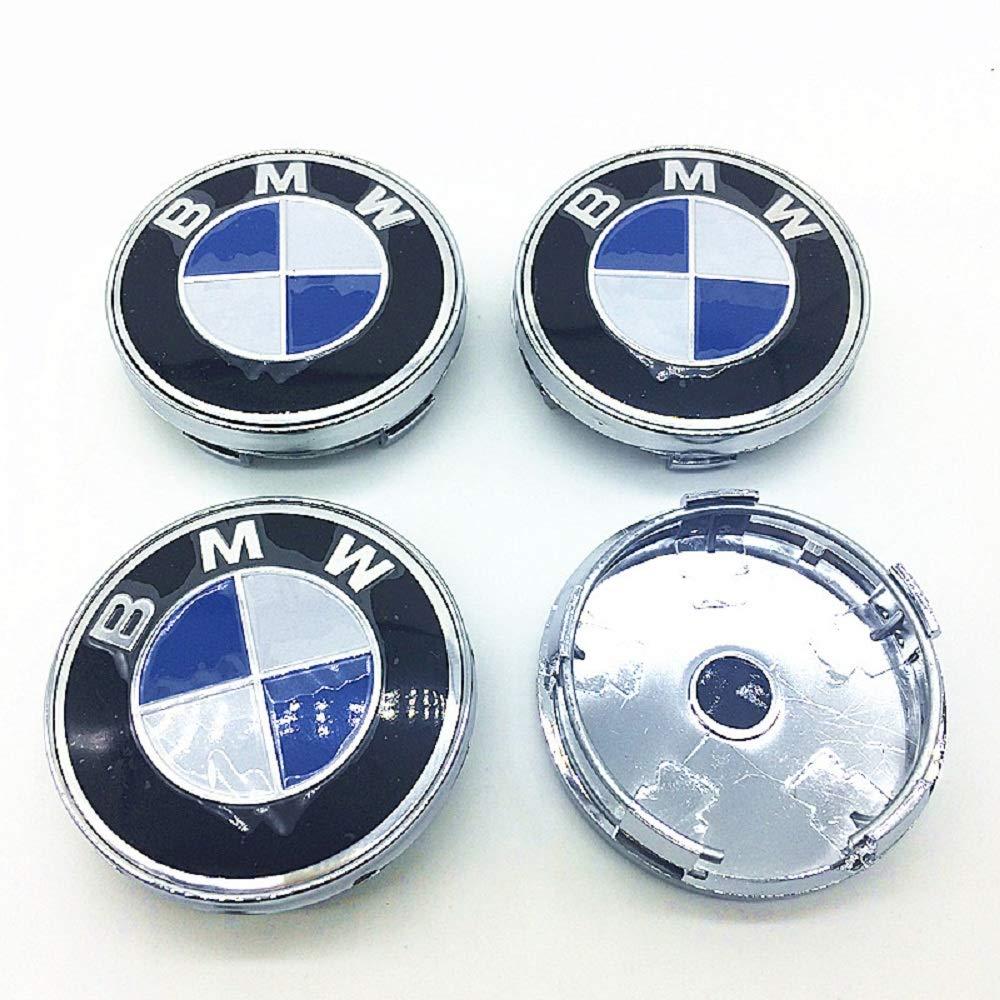 60mm Wheel Center Hub Caps for BMW Upgrade Alloy Rim Center Cap Emblem Logo Blue Badge 4pcs//Set