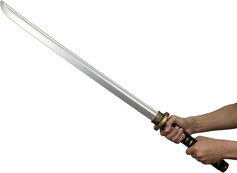 LOOYAR PU Foam Samurai Sword Japanese Katana Weapon Toy for Ninja Soldier Warrior Costume Battle Play Halloween Cosplay LARP Steel