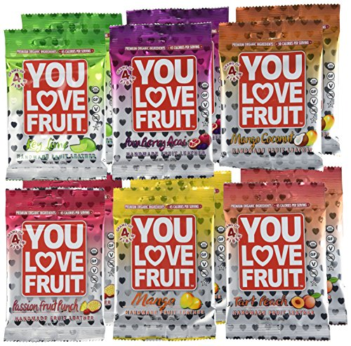 You Love Fruit Premium Organic Fruit Snacks Variety Pack of 12 by You Love Fruit (Image #2)