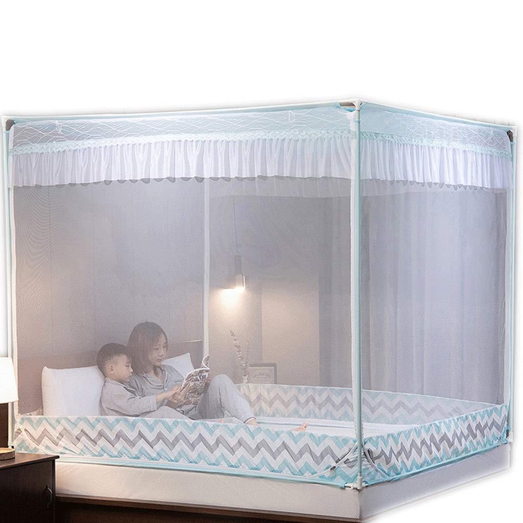 蚊帳1.2 / 1.5 / 1.8 / 2.0m防塵蚊帳厚く暗号化されたジッパー蚊帳 (色 : C, サイズ さいず : Bed 1.5m) Bed 1.5m C B07RTM19LV