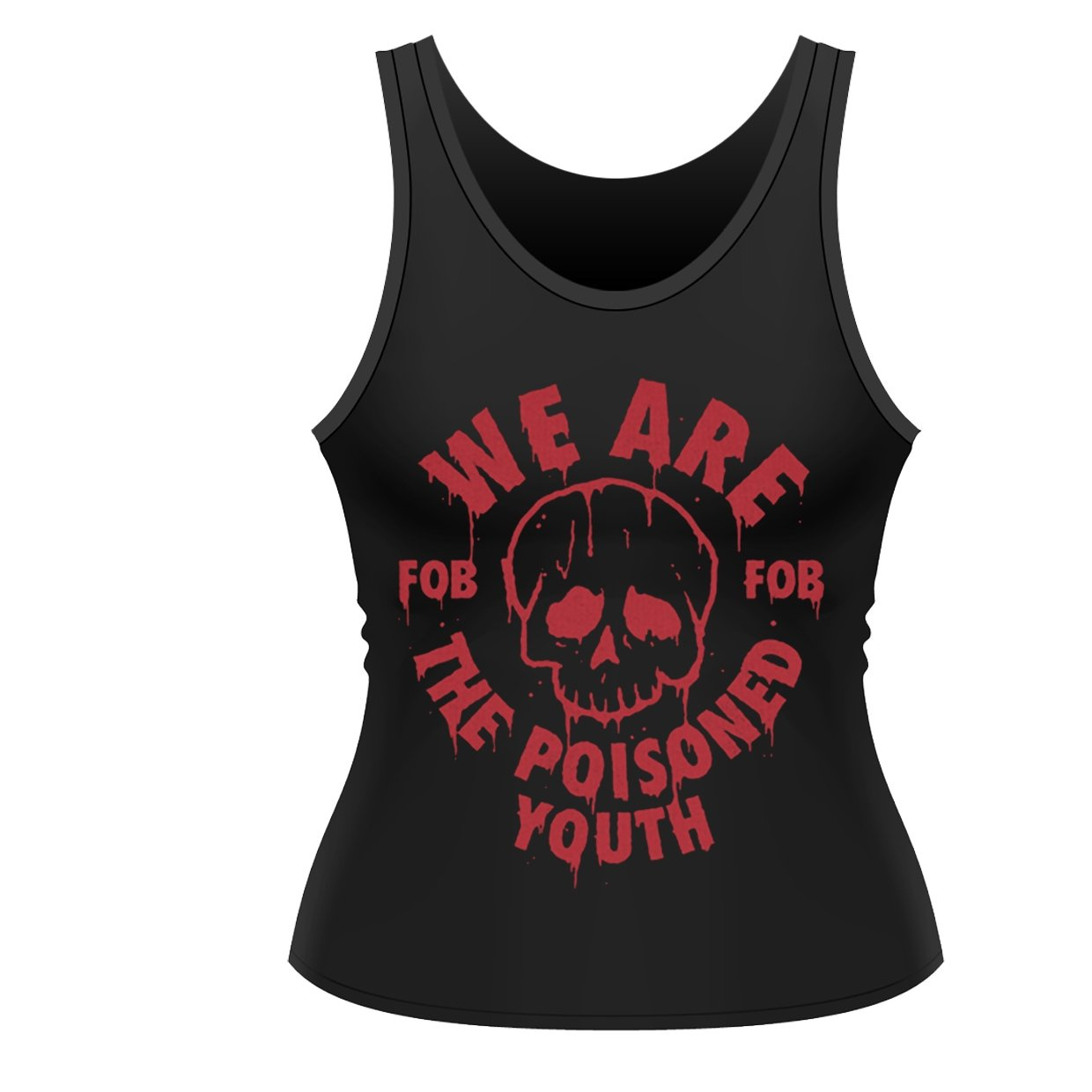 Fall Out Boy Women's The Poisoned Youth FOB Vest Black PH9117