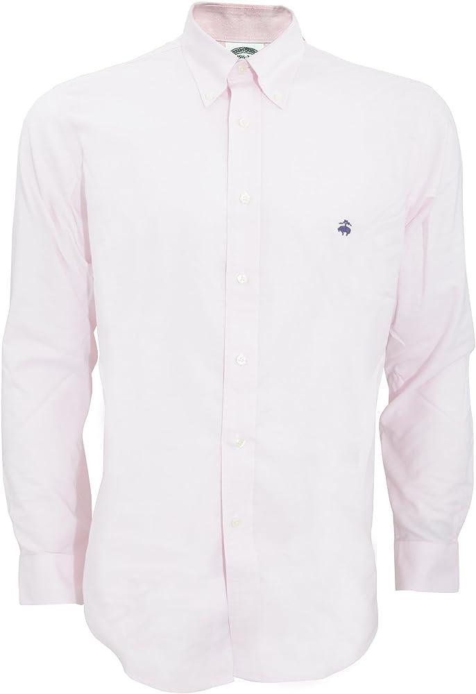 Brooks Brothers - Camisa lisa ajusta entallado caballero hombre (Mediana (M)/Lino): Amazon.es: Ropa y accesorios