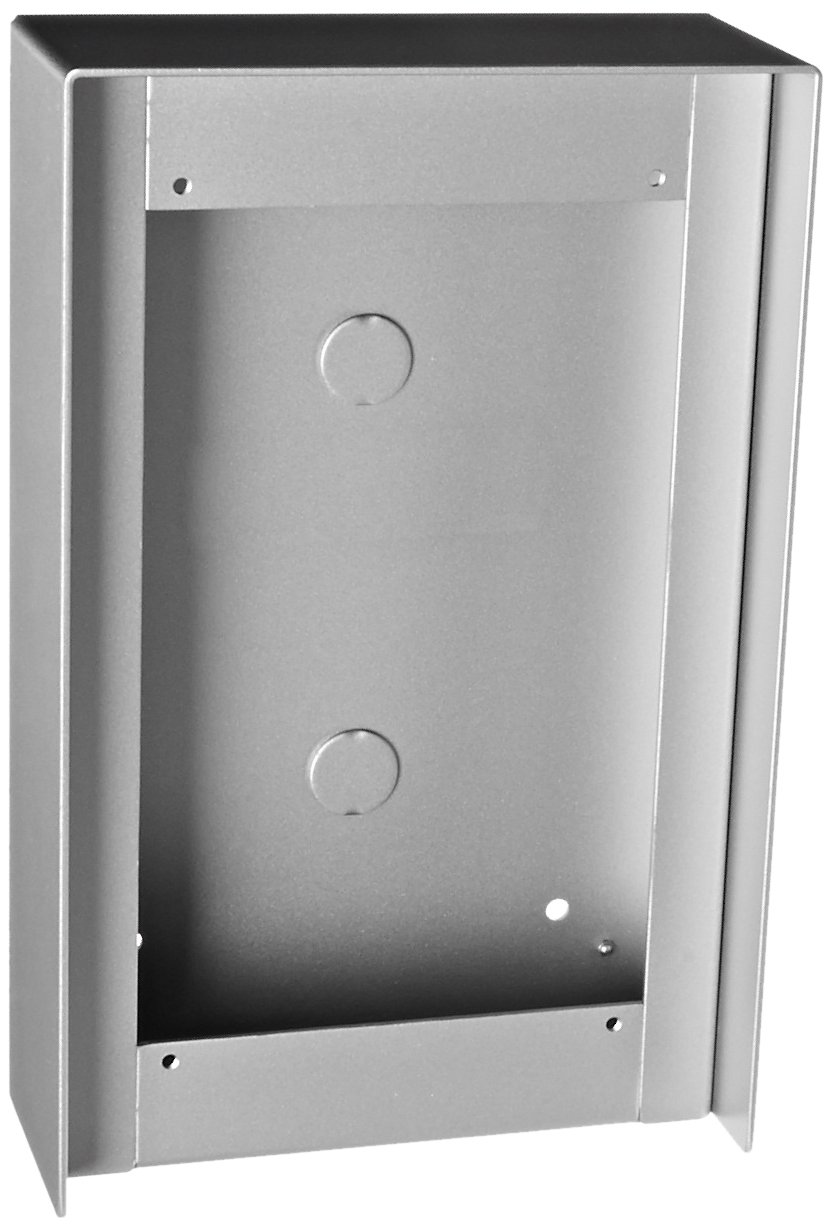 Aiphone Corporation GT-102HB Hooded Surface Mount Box for GT Series, 1 x 2 Entrance Stations, Aluminum Coated by Metal Painting by Aiphone Corporation