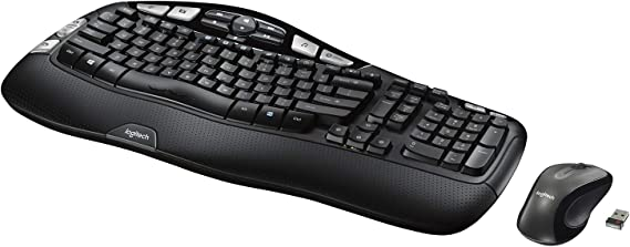 Logitech MK550 Wireless Wave Keyboard and Mouse Combo - Includes Keyboard and Mouse