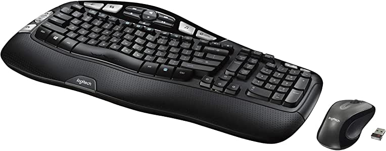 Logitech MK550 - Teclado (RF inalámbrico, Negro, AA, USB CD-ROM, Windows Vista/XP): Amazon.es: Informática