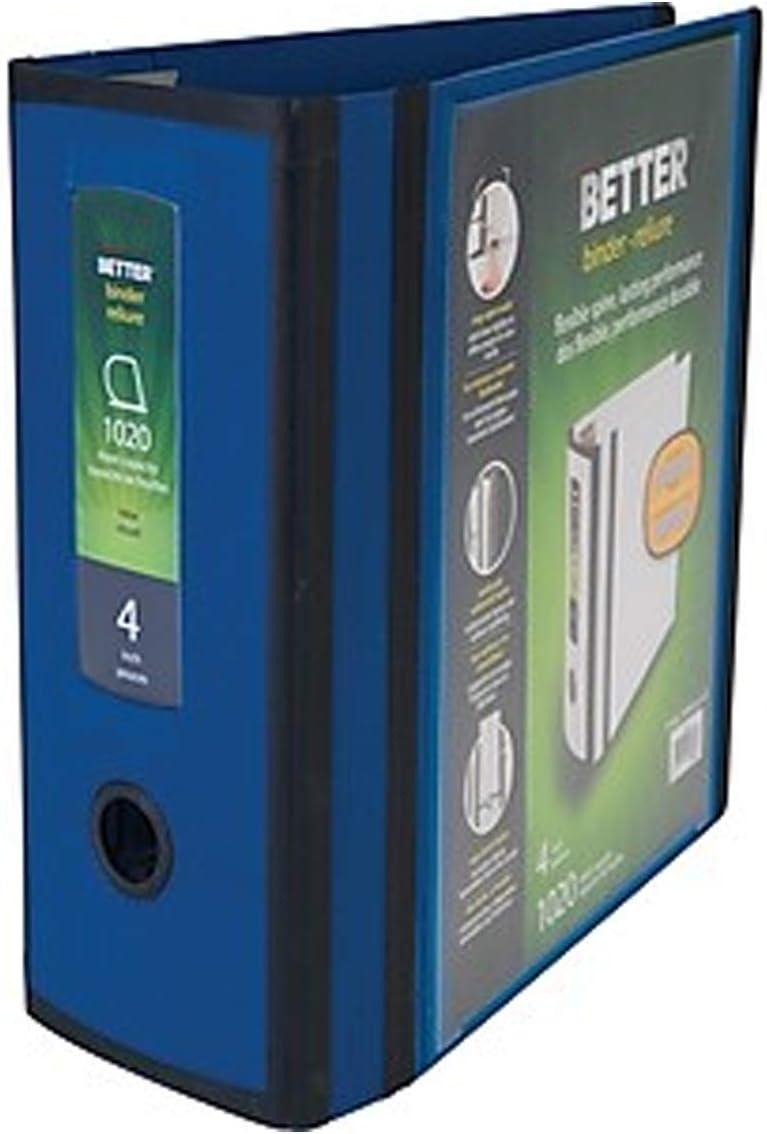 Blue MyOfficeInnovations 1618290 Better 4-inch 3 Ring View Binder