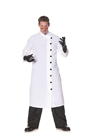 9a4a55e9ae6 Amazon.com  Underwraps Men s Doctor Mad Scientist White Lab Coat Adult  Outfit Fancy Costume  Clothing