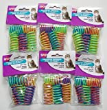 6-Pack Ethical Pet Colorful Springs Cat Toys * 10 Toys per Pack
