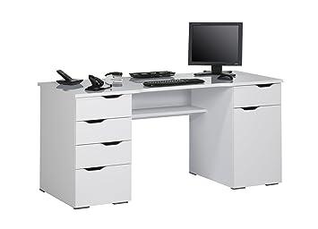 Office collection bureau d ordinateur scarlett blanc polaire