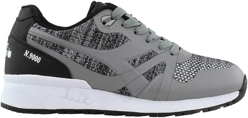 Mens Grey Diadora N9000 III Sneakers Casual