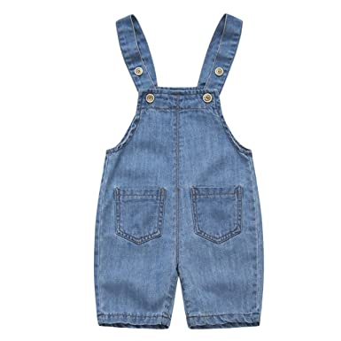 c32e5b0ac Baby Dungarees Denim Shortall Jeans Boys Girls Bib Overalls Jumpsuit ...