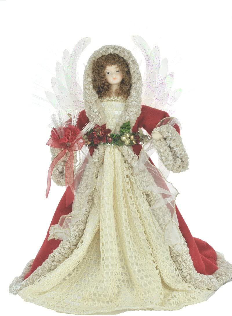 JJ s Holiday Gifts 18 Red Fiber Optic Angel