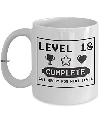 Happy 18th Birthday Mug Gaming Geek 1999