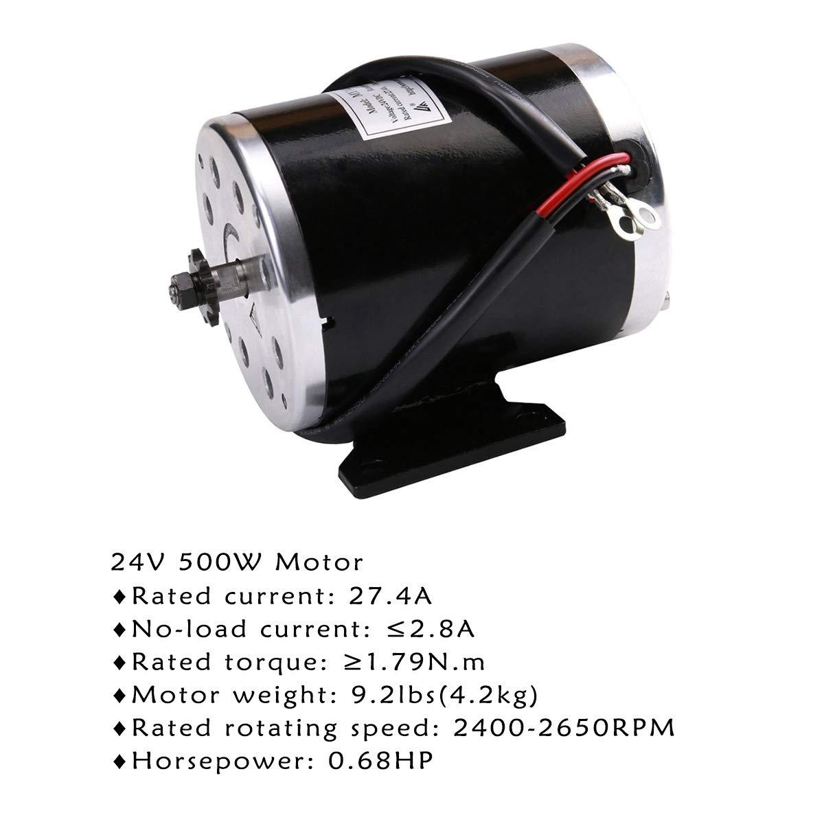 Amazon.com: tdpro 24 V 500 W cepillo para polvo Motor ...