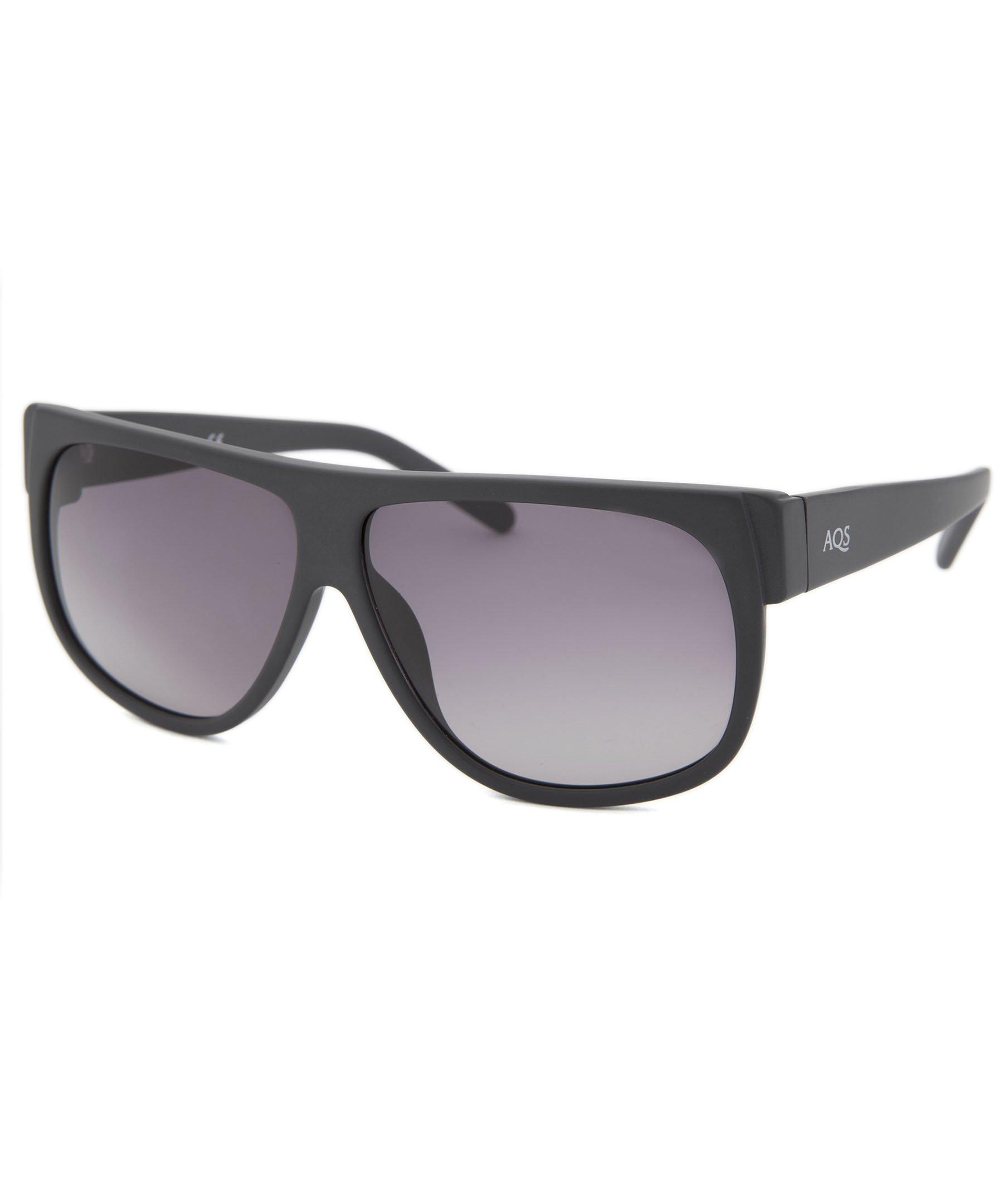 AQS Unisex Avery Flat Top Sunglasses (Matte Grey, Grey)