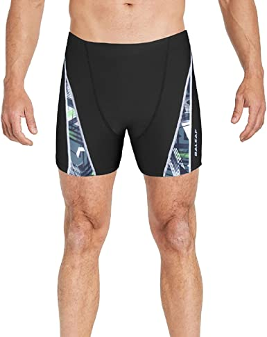 Coolred-Men Hit Colors Comfy Fast Dry Square Leg Trunks Swimsuit Swimwear