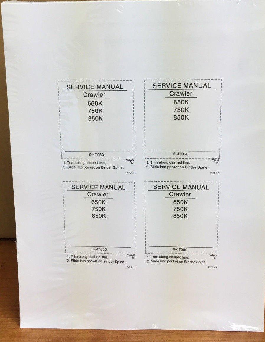 Amazon.com: Case 650K, 750K, 850K Crawler Dozer Workshop Repair Service  Manual - Part Number # 87364103: Automotive