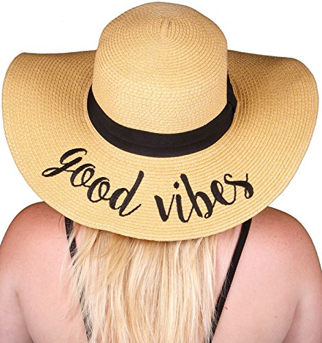 H-2017-GV Funky Junque Embroidered Sun Hat - Good - Music Buckles Rock Belt