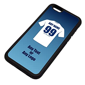 size 40 40370 bc326 UNIGIFT Personalised Gift - Preston North End iPhone 6 / 6s Case (Black,  Football Club Design Theme) - Any Name/Message on Your Unique - Apple TPU -  ...