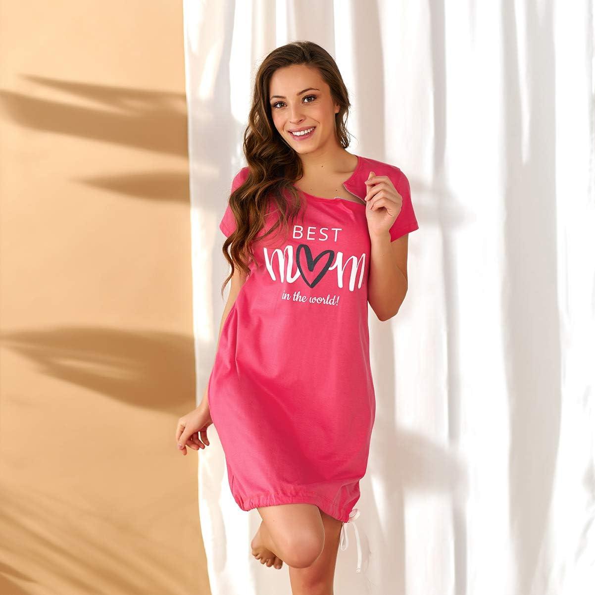Hecho En La UE Dn-Nightwear TM.5038 Hermoso Camis/ón Maternal A Topos