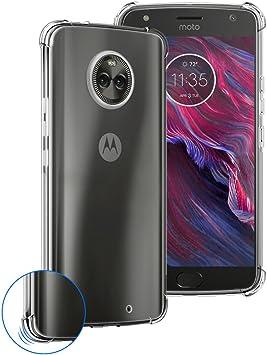 Funda Motorola Moto X4 Siuber Delgado Crystal Clear Transparent Carcasa Absorción de Golpes Antideslizante Premium Flexible TPU Cover: Amazon.es: Electrónica