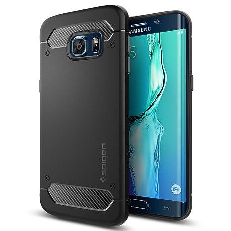 Samsung Galaxy S6 Edge Plus Hülle, Spigen® [Rugged Armor] Elastisch [Schwarz] Ultimative Schutz vor Stürzen und Stößen - [Kar