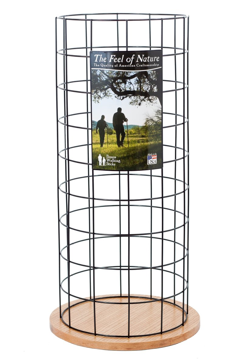 Brazos Wire Grid Cane and Walking Stick Storage and Display Stand