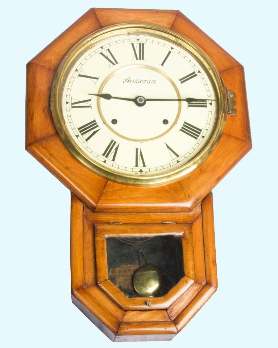 Antiques World Antique Home Décor Vintage Style Original Ansonia Pendulum Wall Clock Clock's AWUSAHB 079