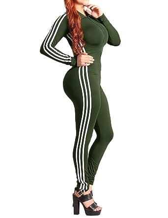 17fa06dd6f89 Shymay Women s Bodycon Jumpsuit Long Sleeve V-Neck Sport Unitard Bodysuit  Jumpsuit