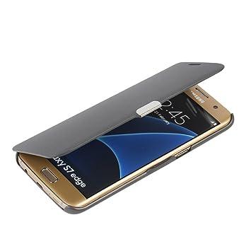 MTRONX para Funda Samsung Galaxy S7 Edge, Cover Case Carcasa Caso Ultra Folio Flip Cuero Delgado Piel con Cierre Magnetico para Samsung Galaxy S7 Edge ...