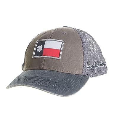 8357c36475a Black Clover Mens Lucky Texas Flag Clover Blue and Red Cap ...